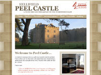 Screenshot of New web site for a castle hotel in Northern England
